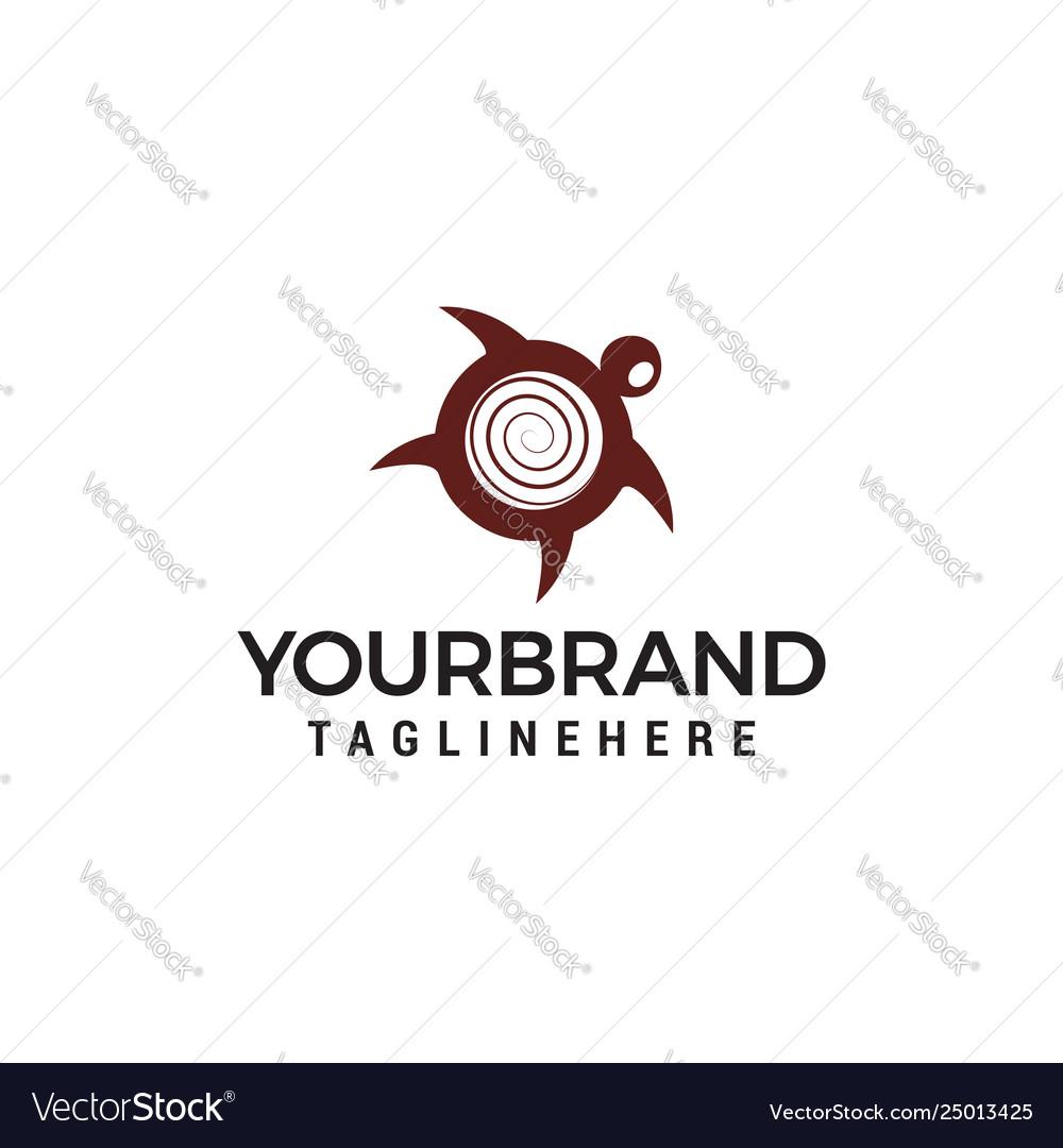 Turtle logo design concept template