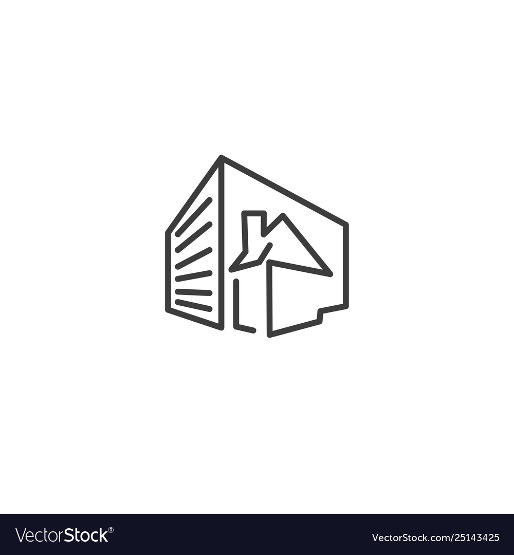 Urban and city element icon - building house in