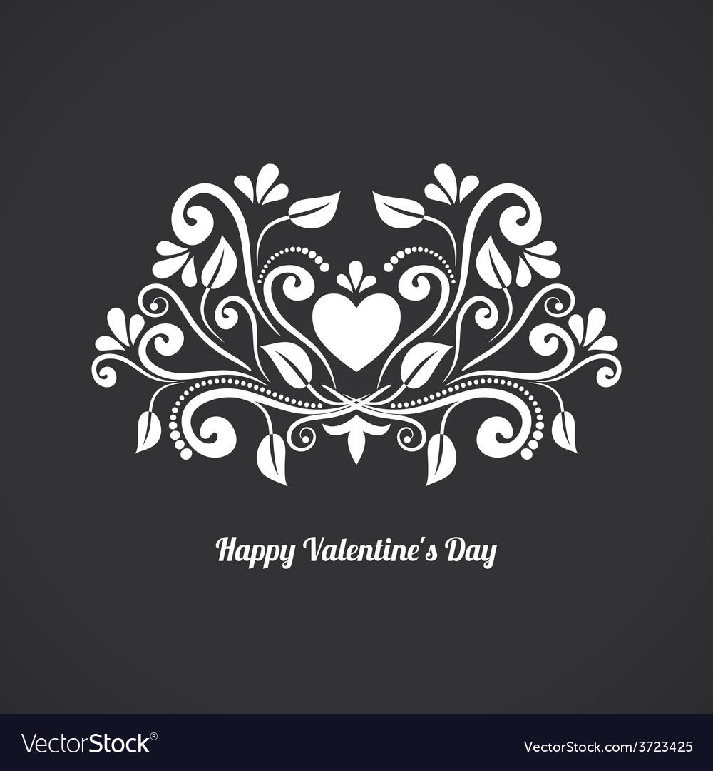Valentine Blackboard Heart
