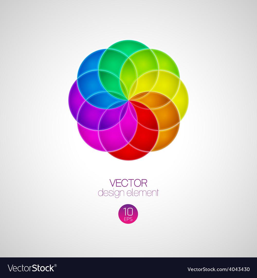 3d circle design element