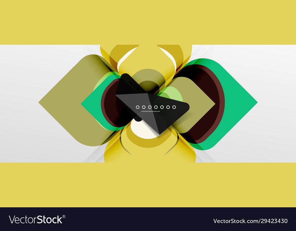 Abstract background - geometric cut paper design