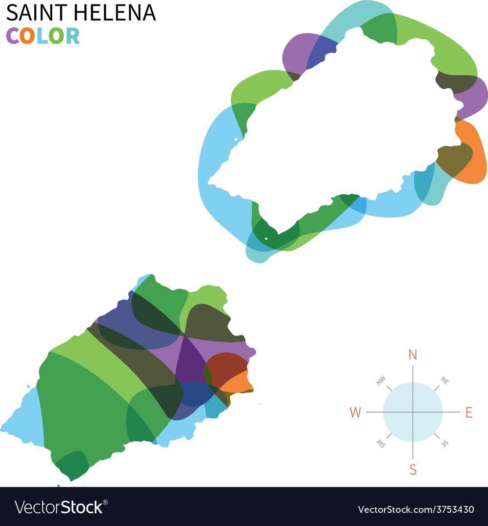 Abstract color map of Saint Helena on dominican republic map, samoa map, mayotte map, saint colorado springs map, saint jerome map, south helena map, st. johns river fishing map, seychelles map, helena street map, cape verde map, reunion map, mozambique map, st. helena california map, tuvalu map, saint michael map, tensas map, madeira map, senegal map, tokelau map, nauru map,