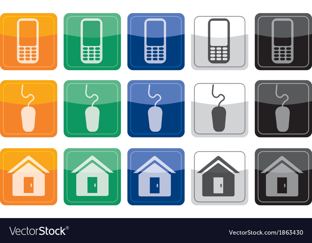 Call Click Visit web Buttons Royalty Free Vector Image