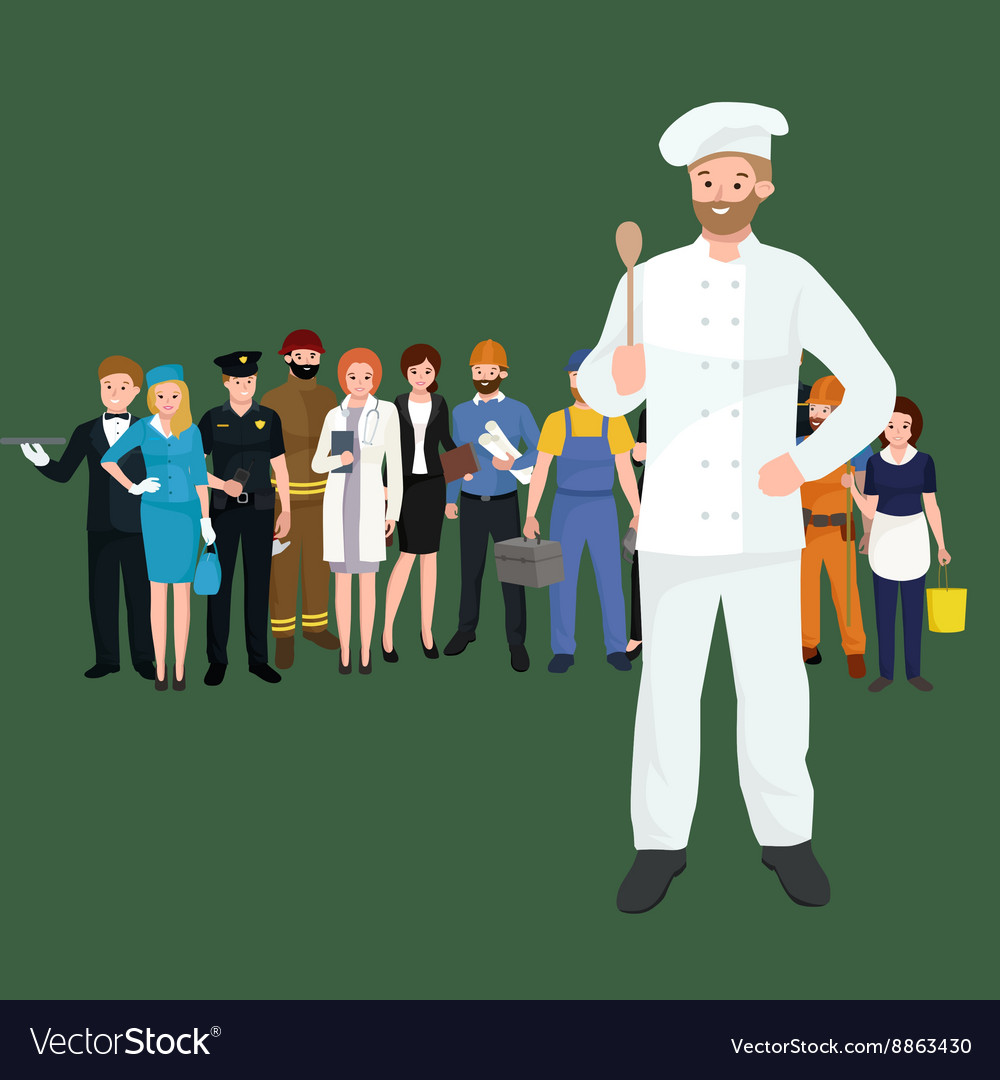 Cooking chefs vector image