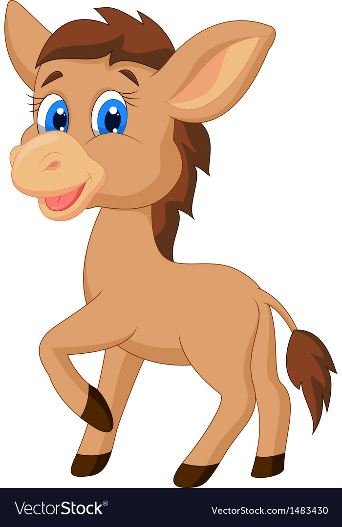 Cute Horse Cartoon Royalty Free Vector Image Vectorstock