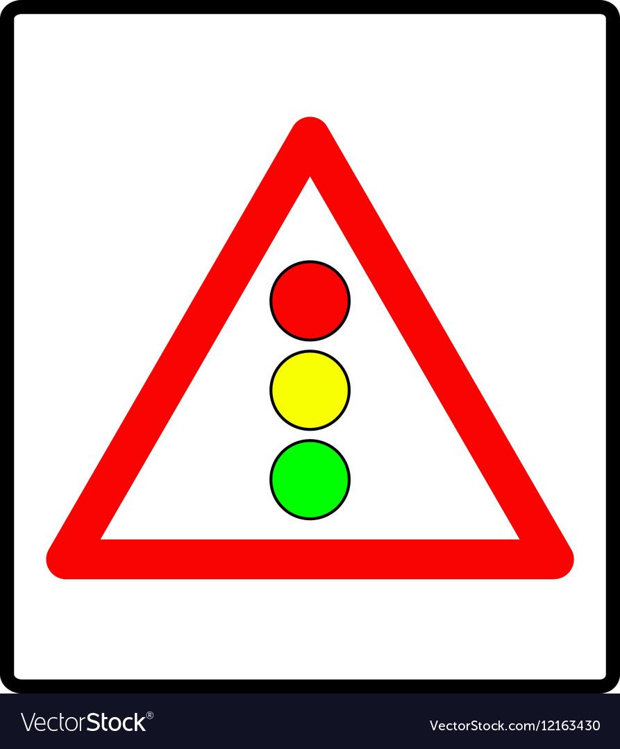 Traffic lights sign vector image
