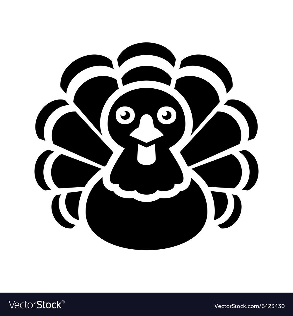 Turkey thanksgiving icon on white background