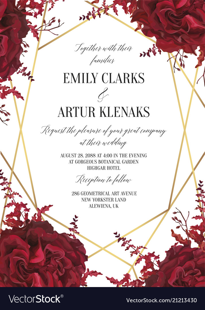 Wedding floral invite invtation card design wate