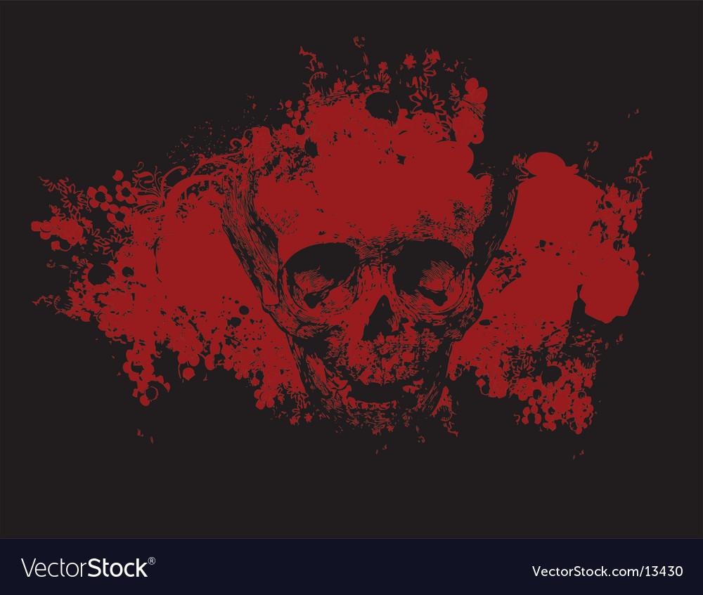Zombie grunge skull illustration vector image