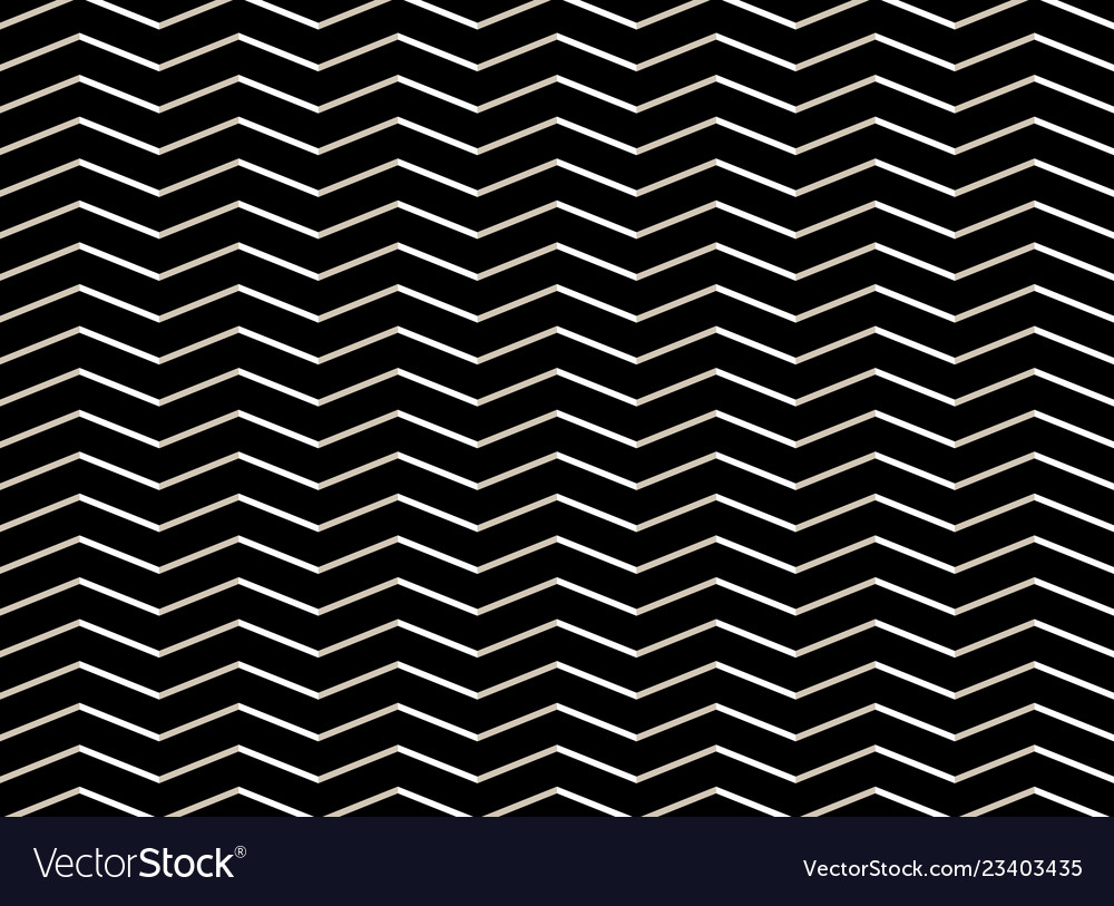 Abstract of white zig zag pattern on black