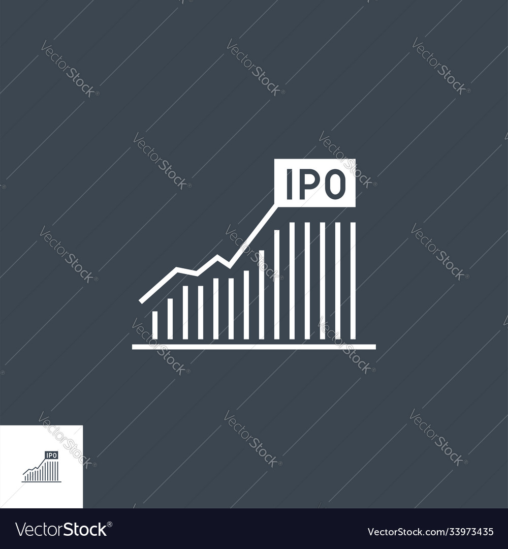 Bar chart related glyph icon