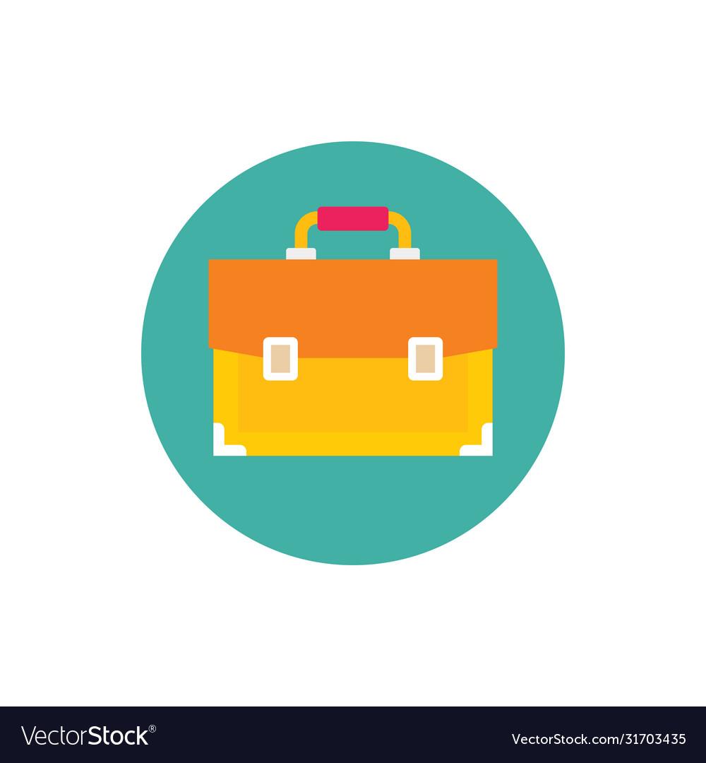 Business portfolio - concept colored icon in flat