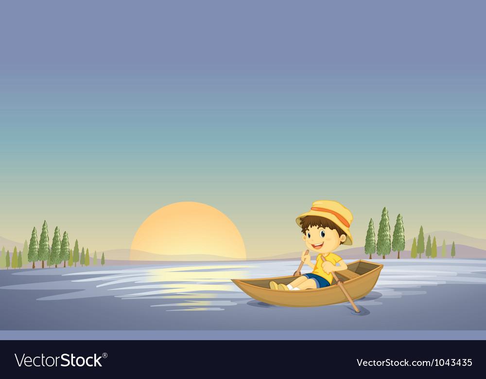 Canoe boy background