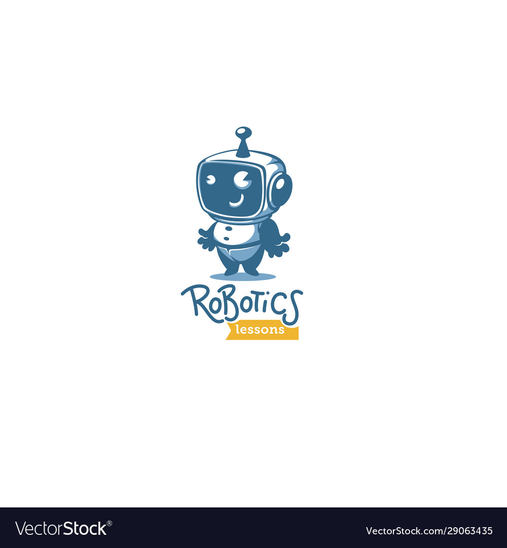 Cute little retro style robot for your robotic