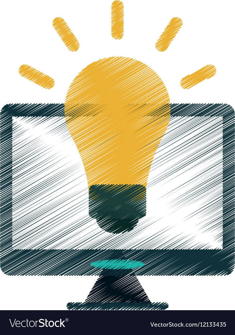 Drawing technology device idea creative vector image