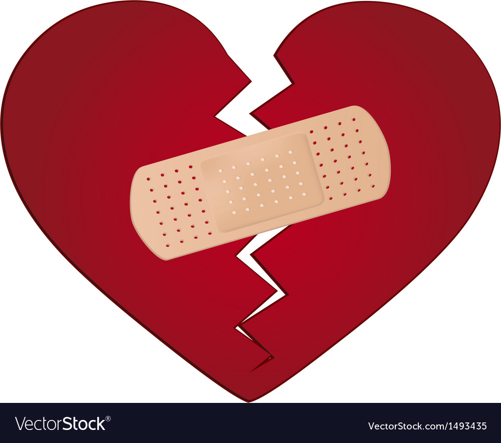 Fix a broken heart concept Royalty Free Vector Image