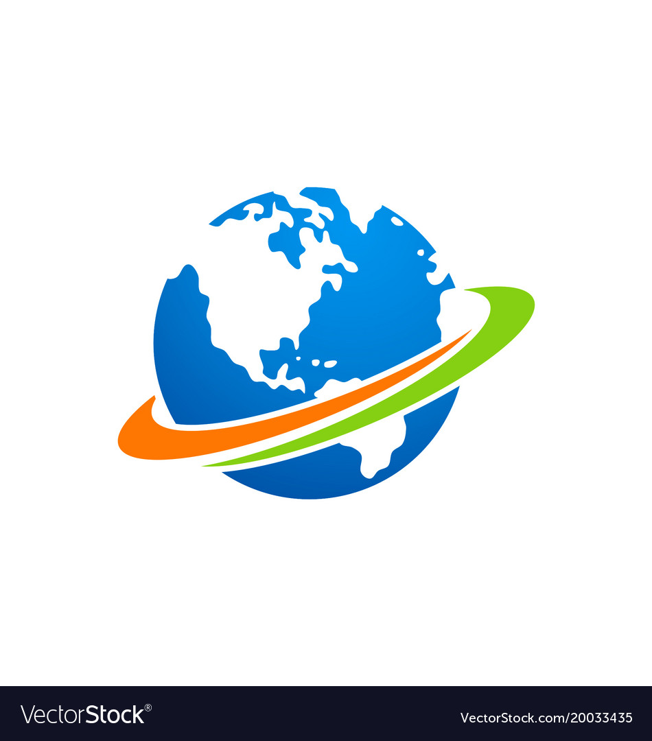 Globe earth planet logo