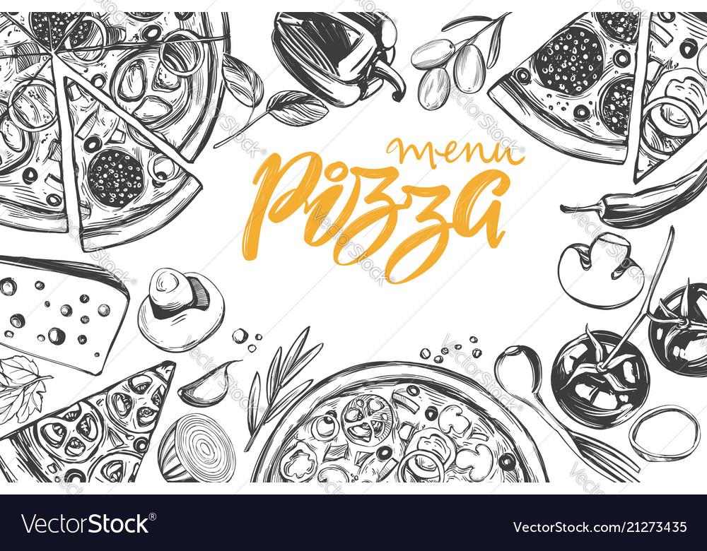 Italian pizza collection pizza