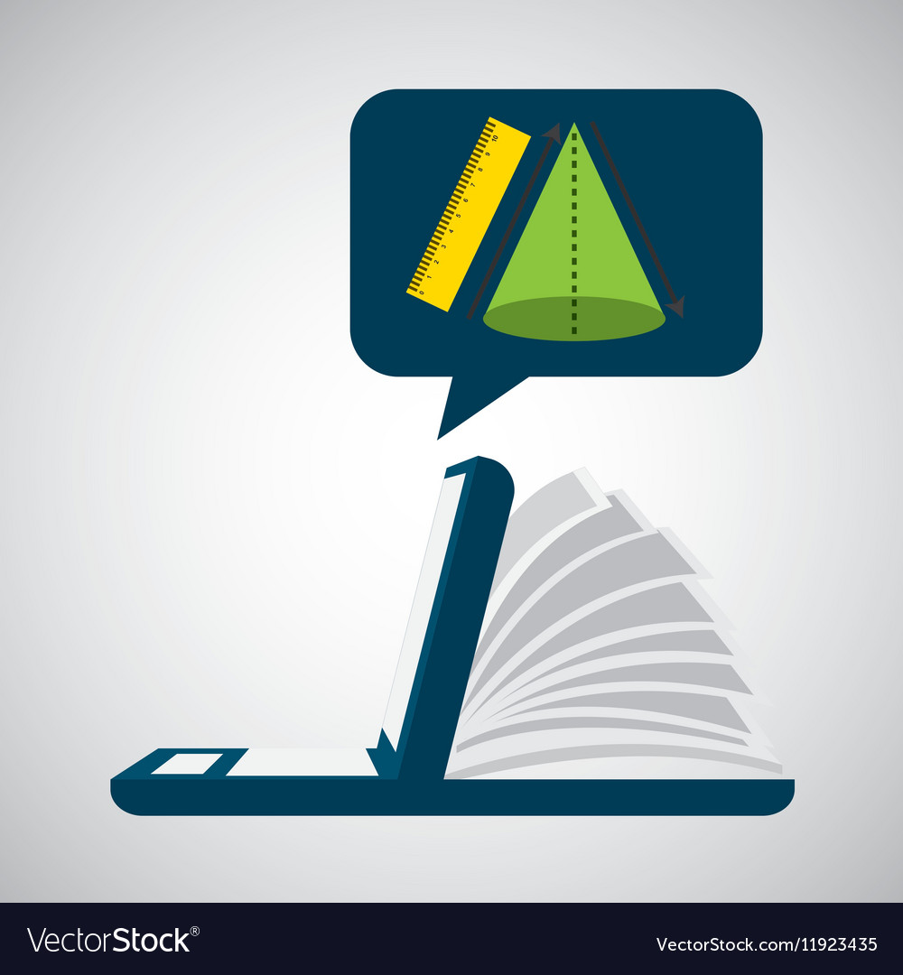 Online learning geometry education vector image