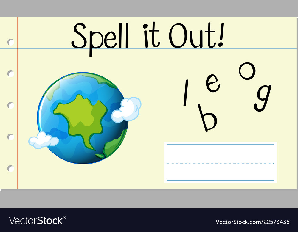 spell english word globe royalty free vector image