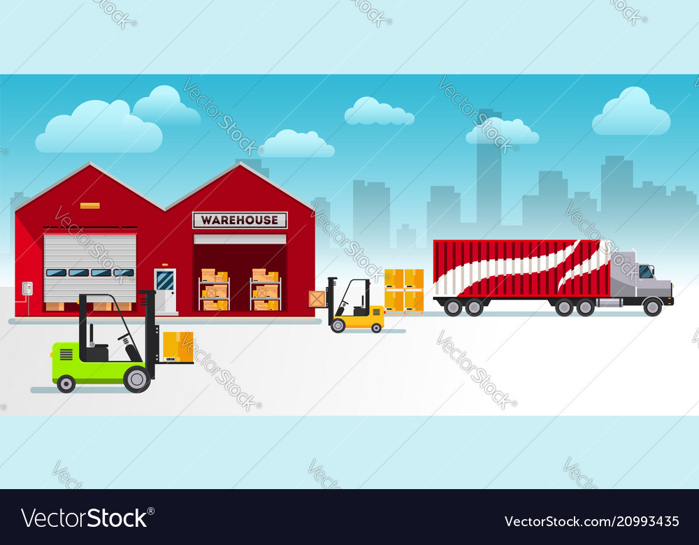 Warehouse building and shipping process flat