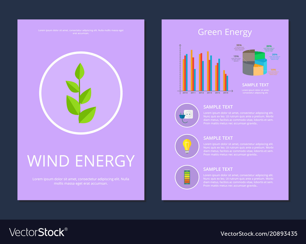 Wind and green energy set