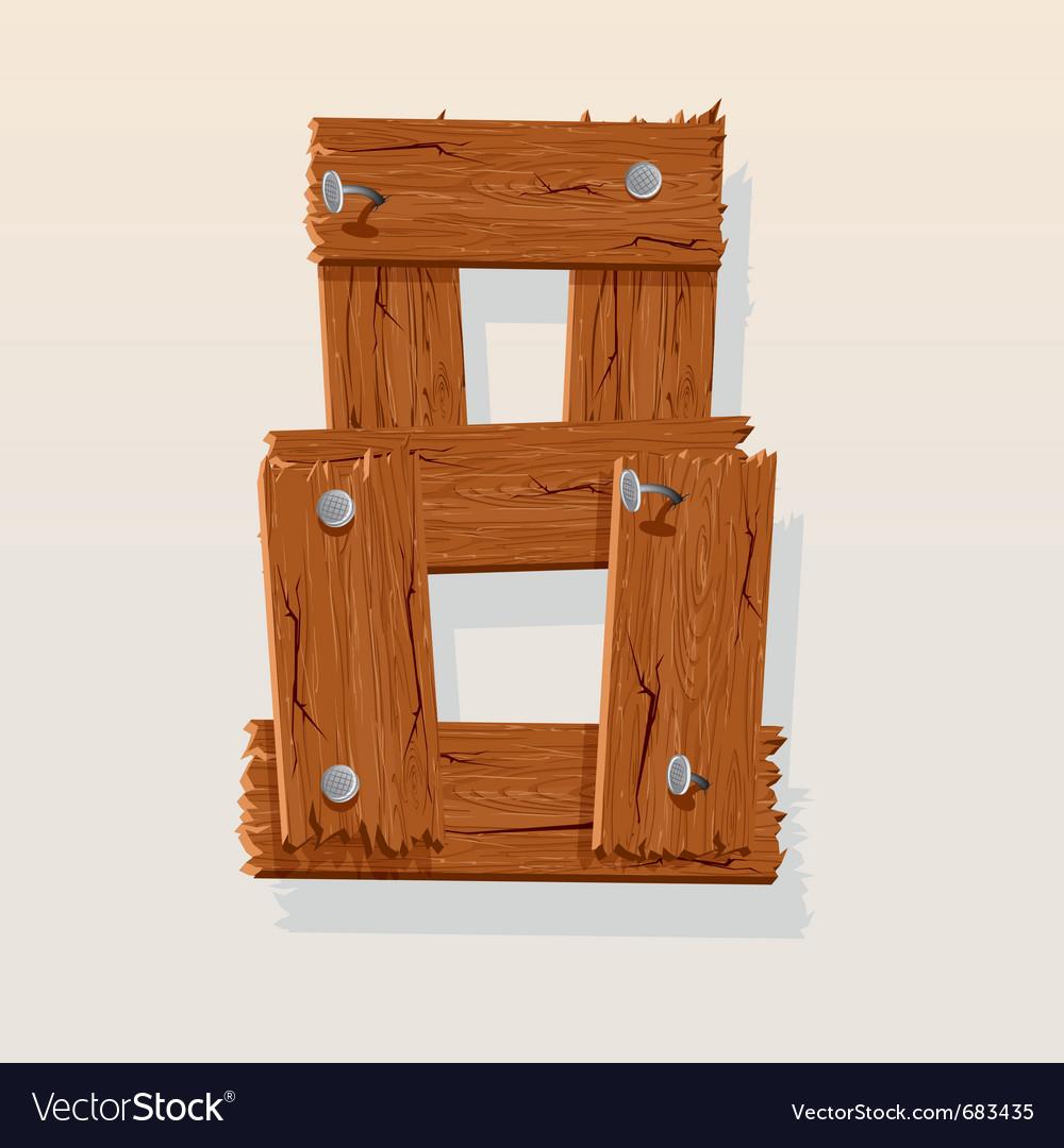 Wooden type 8
