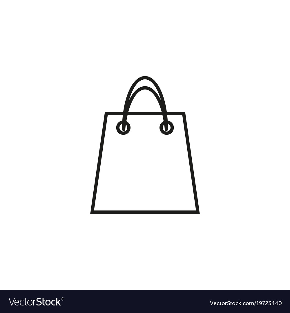 Bag of shop icon