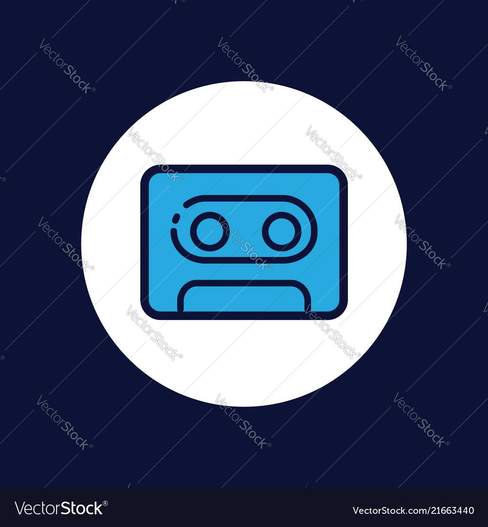 Cassette icon sign symbol