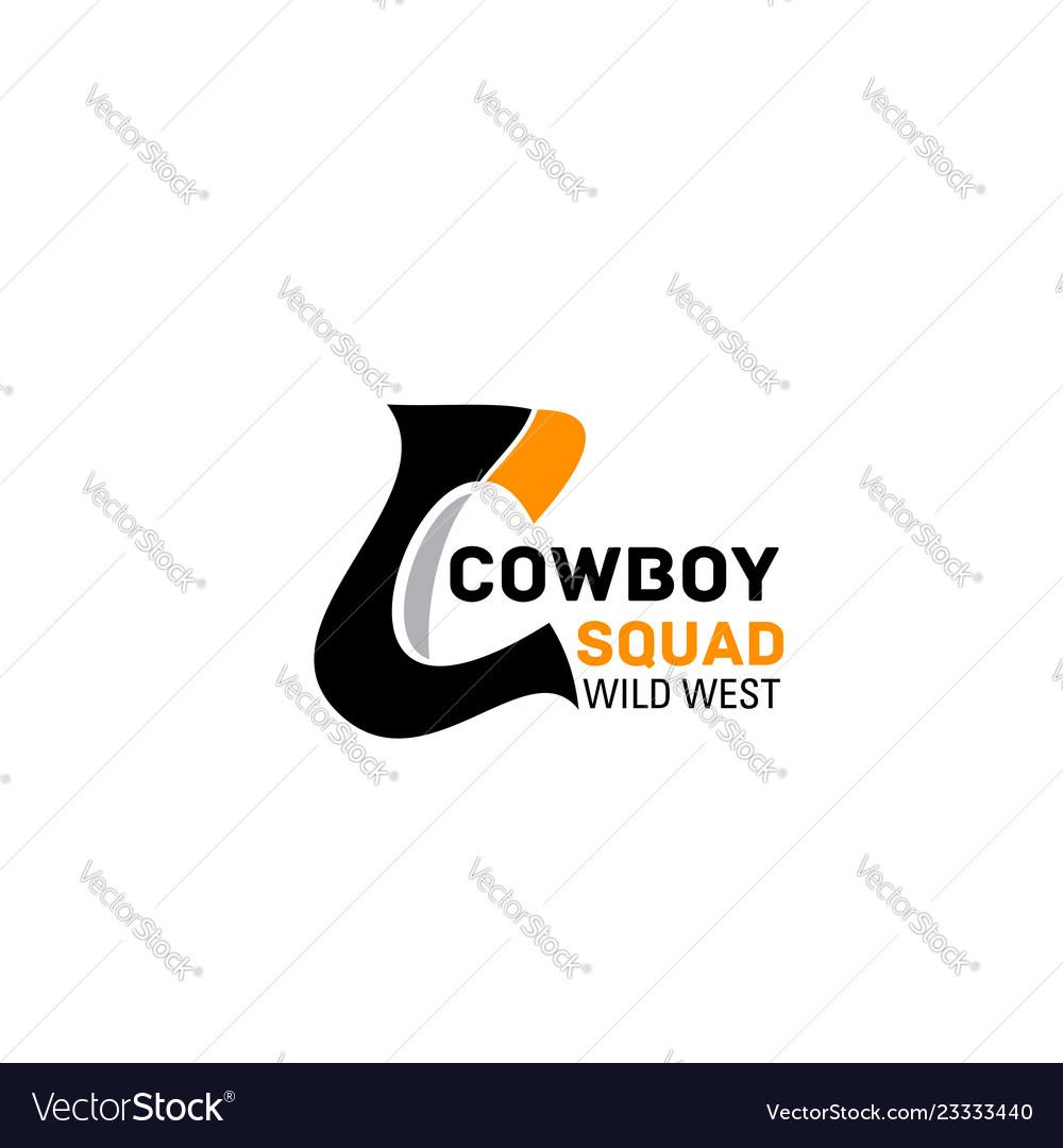Cowboy squad letter c icon