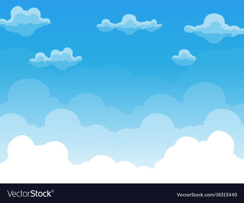 Group of clouds on blue sky