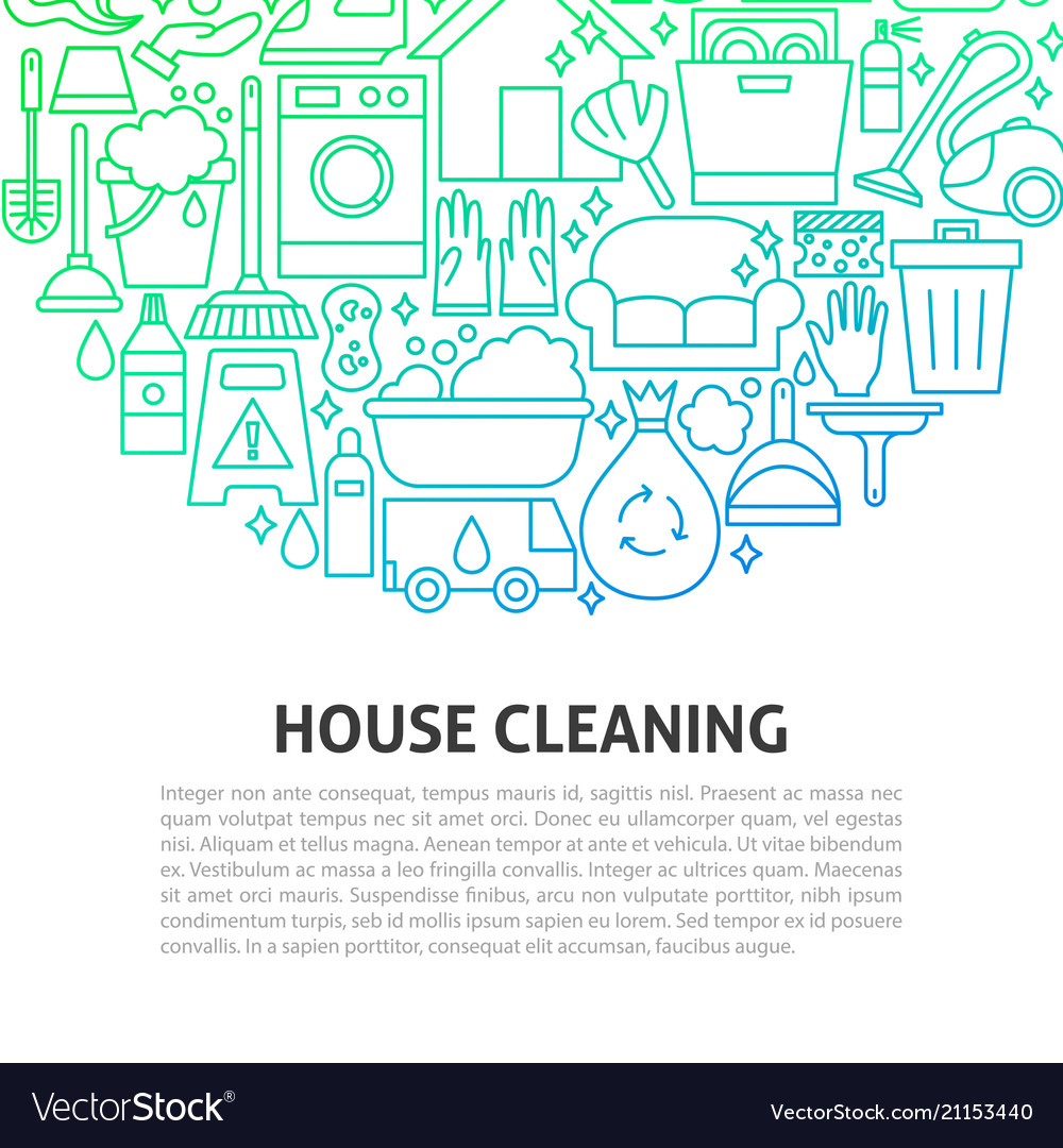 House cleaning line concept