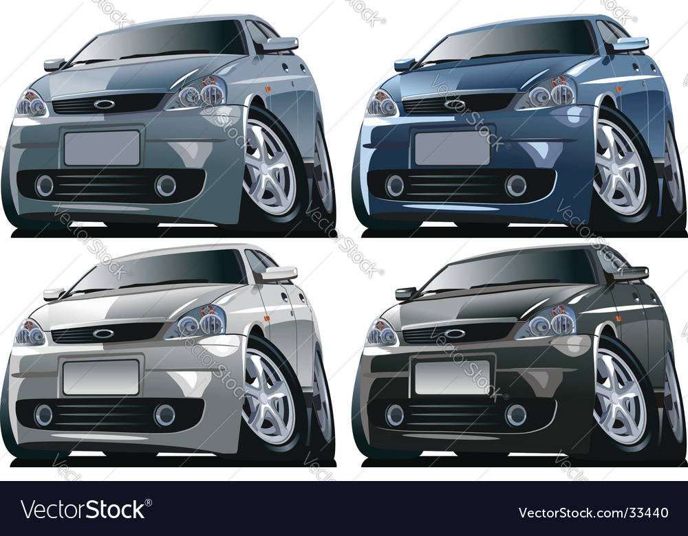 cartoon car pictures. Modern Cartoon Car Vector