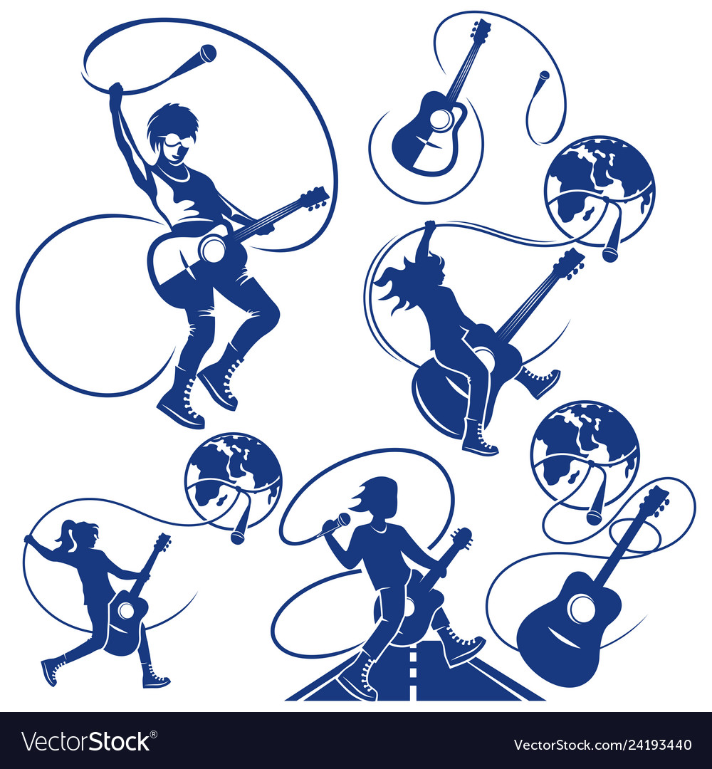 Rock musician logo