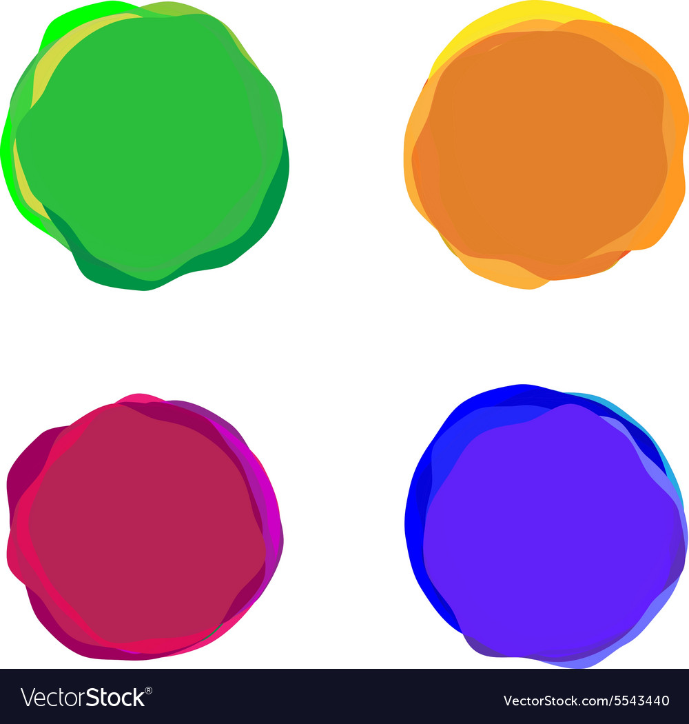 Set of color paint blobs for banners or badges use