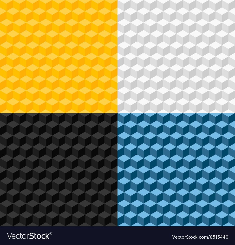 Set of four geometric seamless patterns
