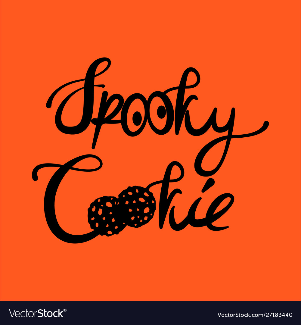 Spooky cookie halloween text tshirt