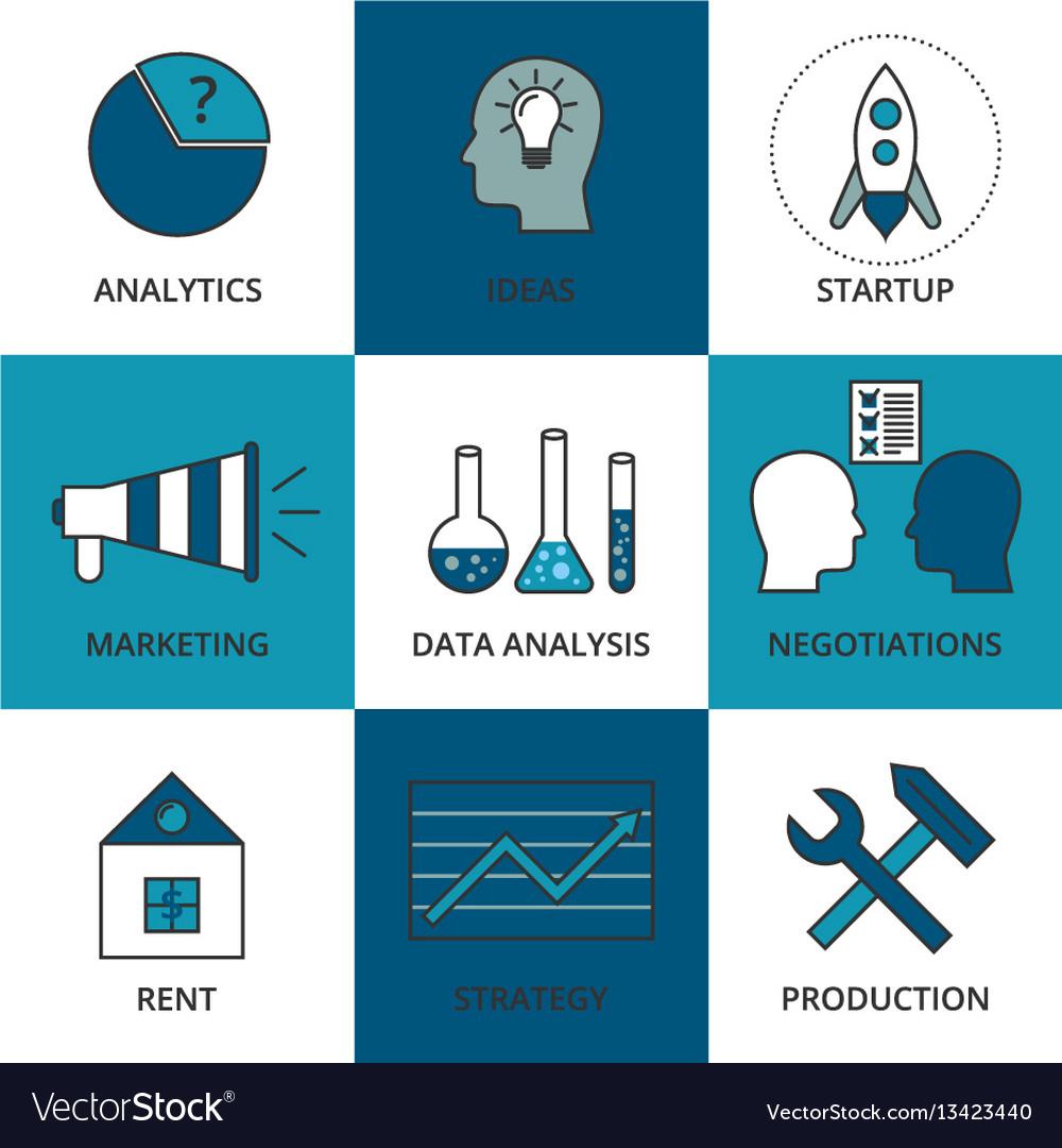 Stock linear icon business development