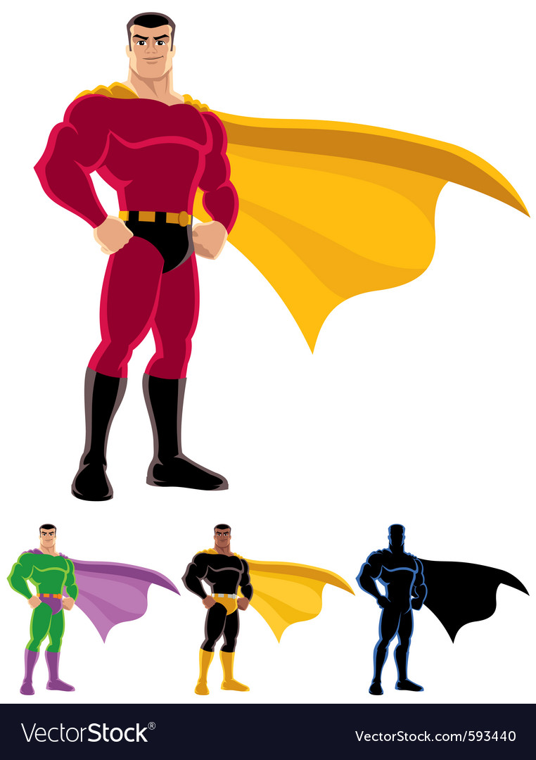 superhero royalty free vector image vectorstock rh vectorstock com superhero vector art free superhero vector