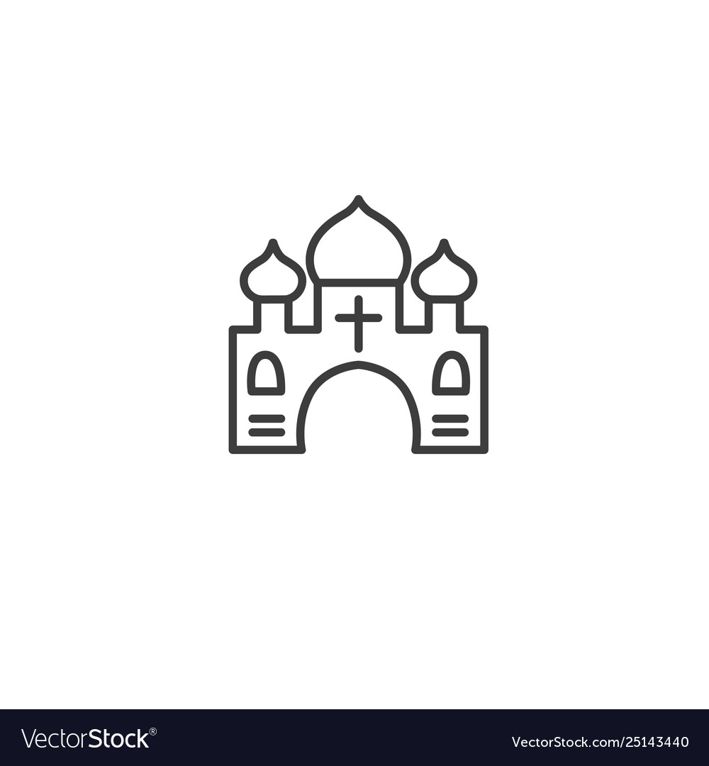 Urban and city element icon - church temple in