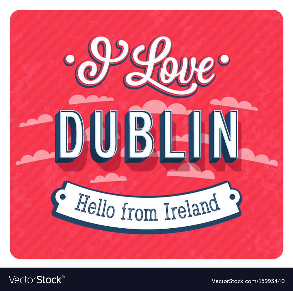 Vintage greeting card from dublin - ireland