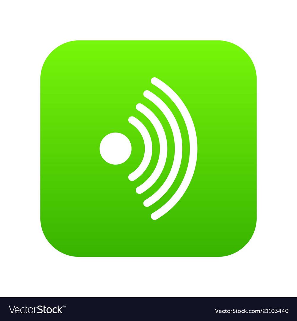 wireless network symbol icon digital green vector image Wireless Network Connection Symbol