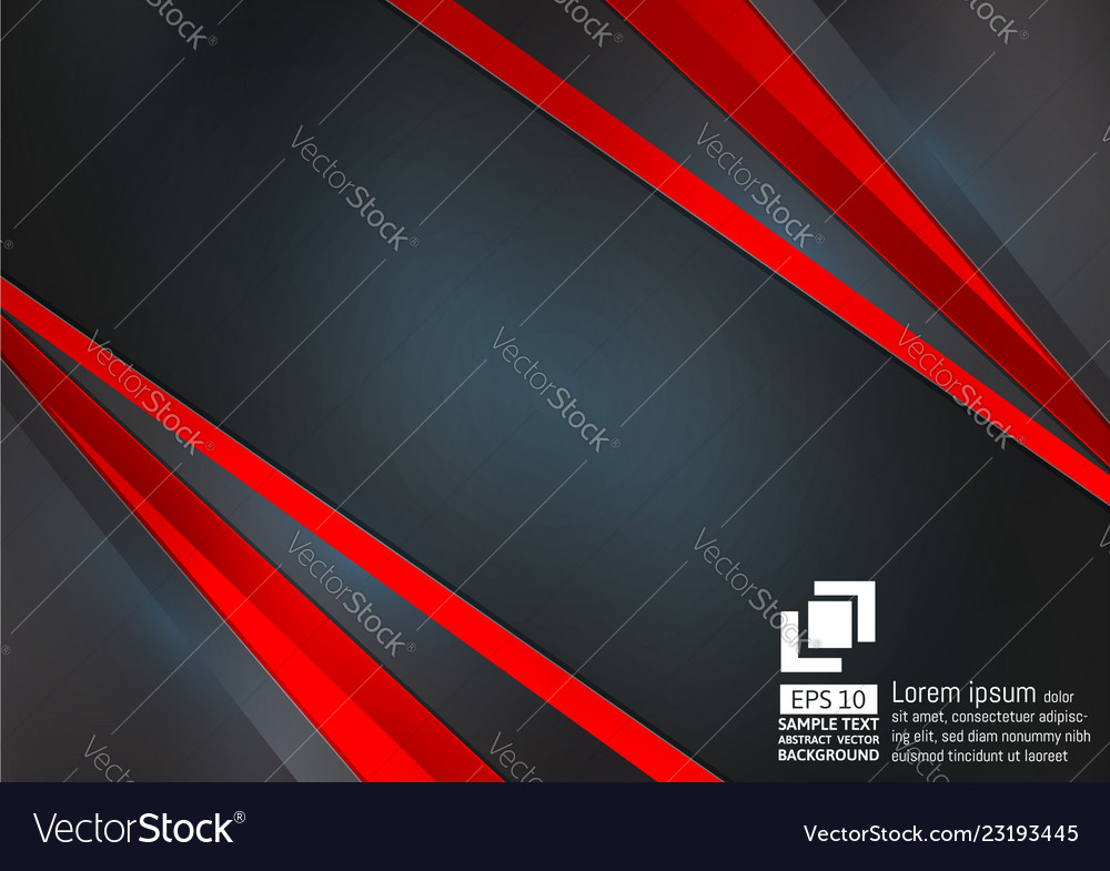 Abstract geometric black and red color background
