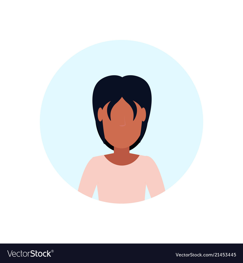 African american woman avatar isolated faceless
