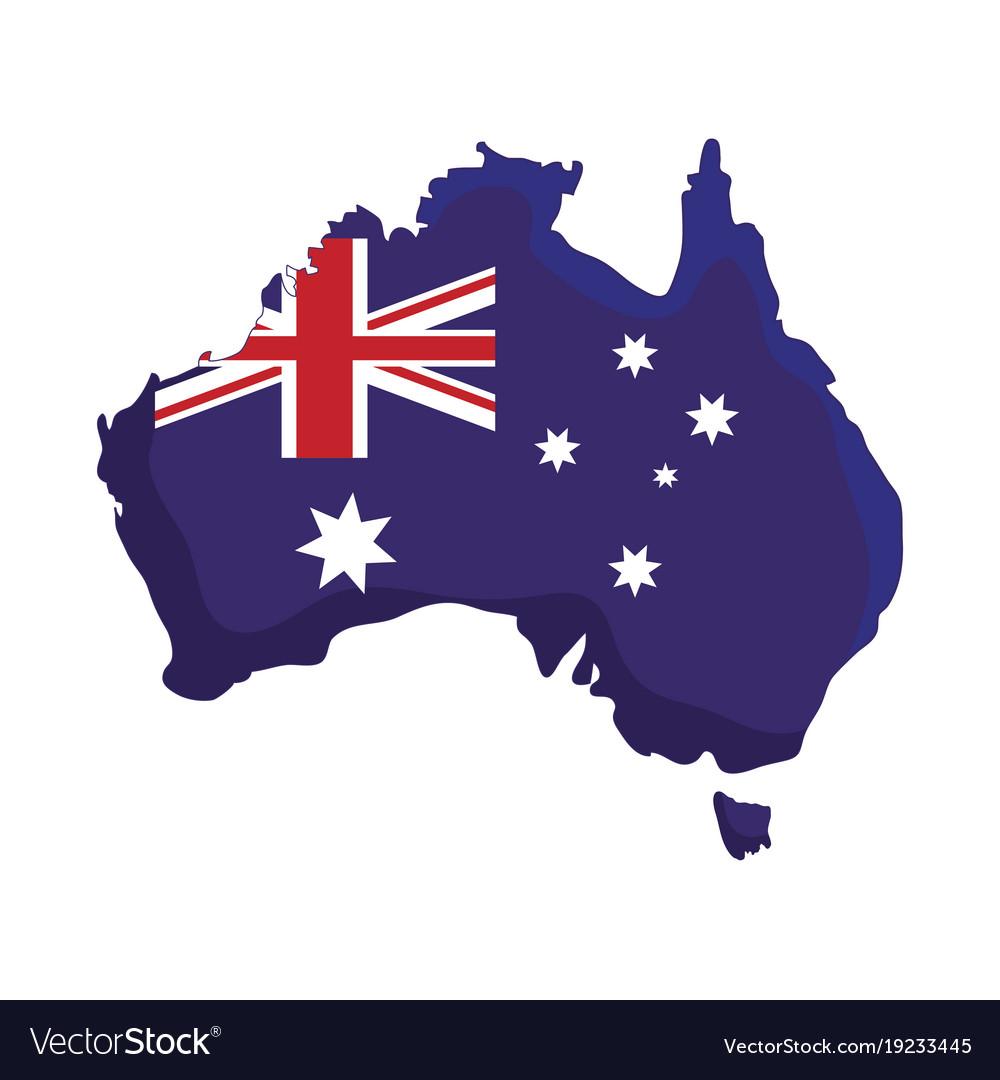 Australia Map Icon.Australia Country Map Icon