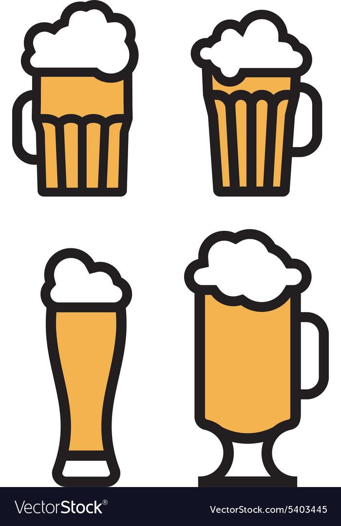 Beer simple2 vector image