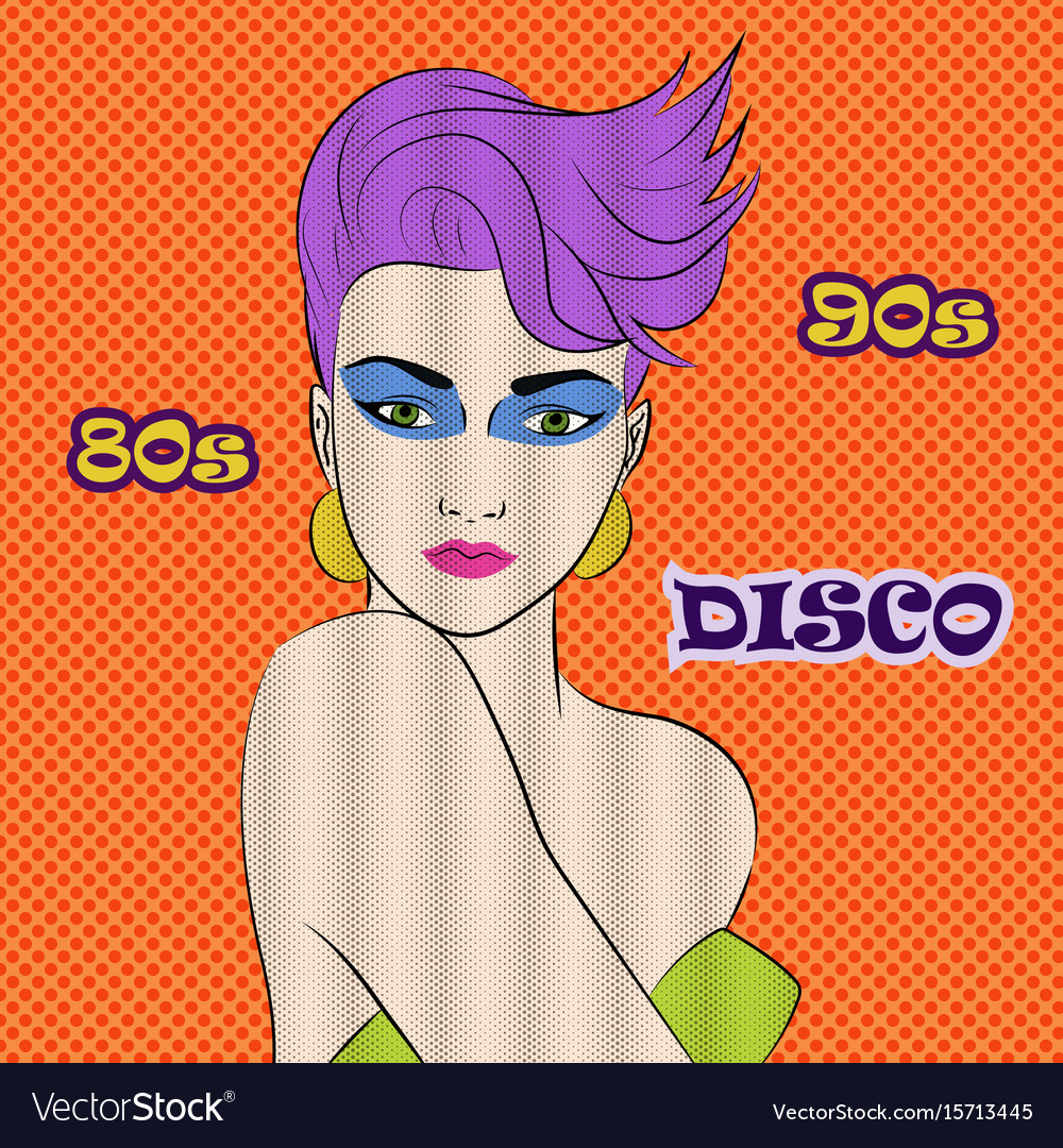 Disco party 80s 90s club music advertising promo vector image