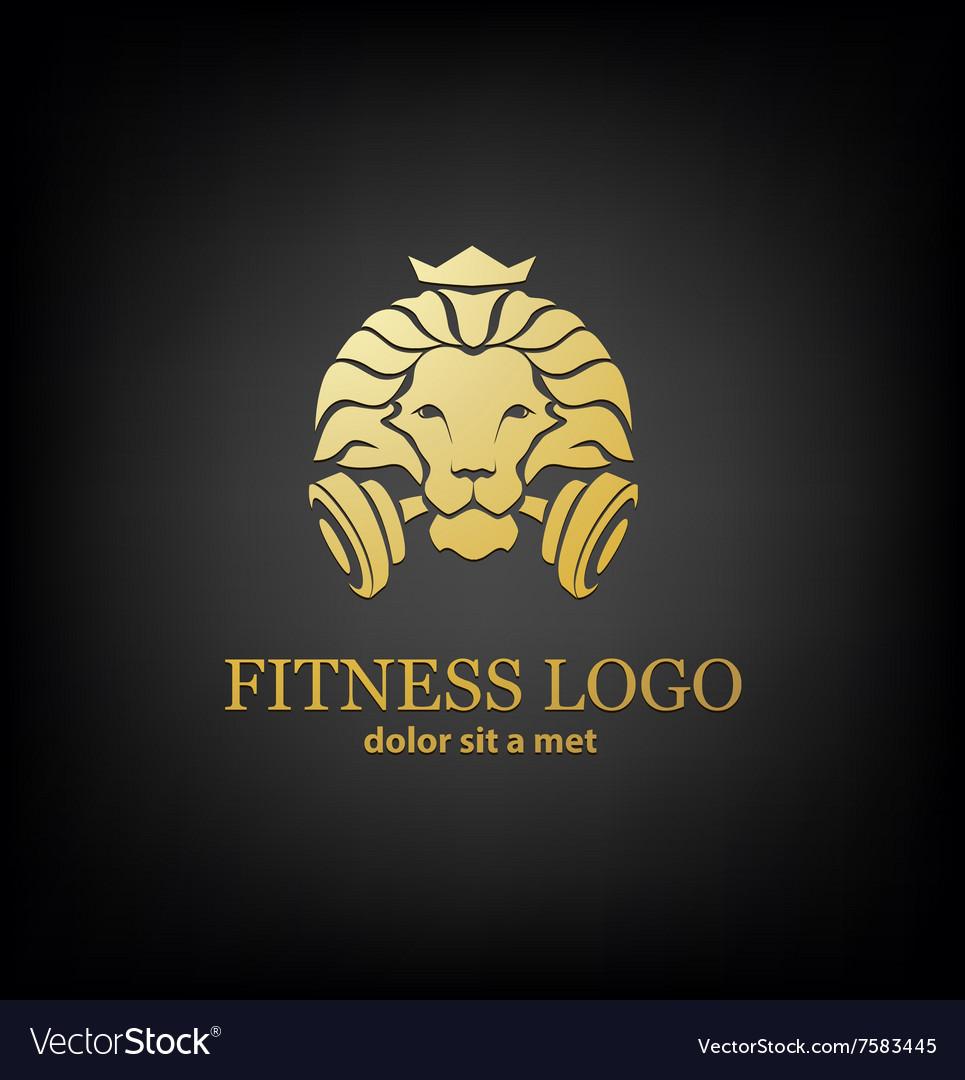 Lion Sport Fitness Logo Template