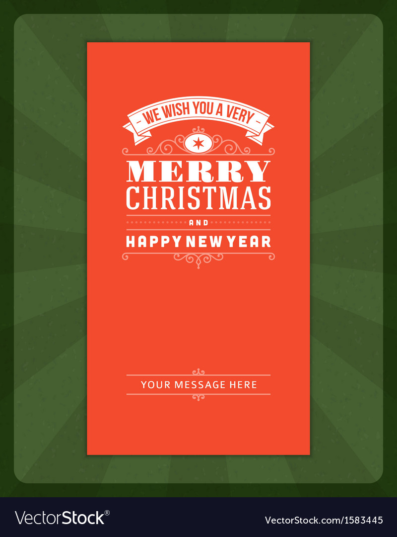 Merry Christmas invitation card vector image