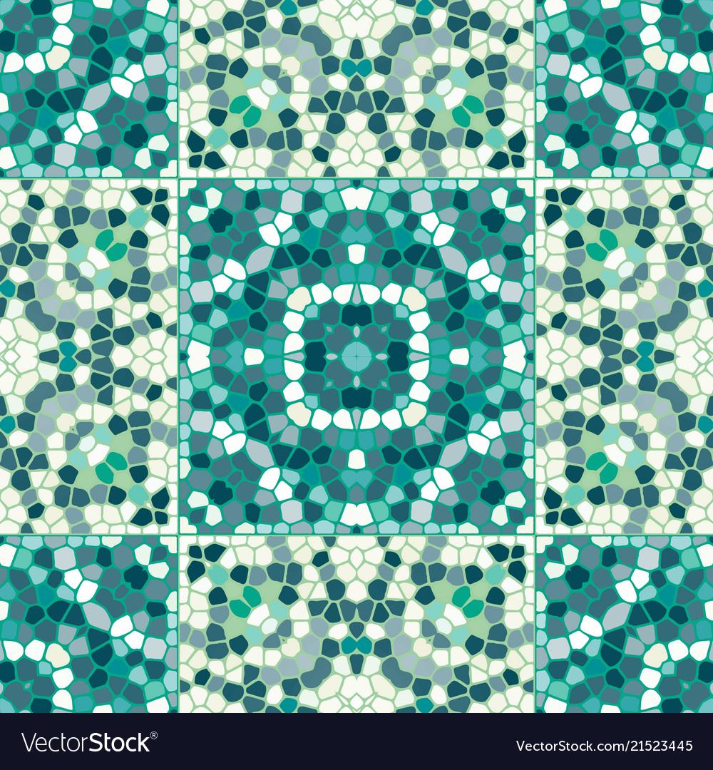 Mosaic tile seamless pattern Royalty Free Vector Image